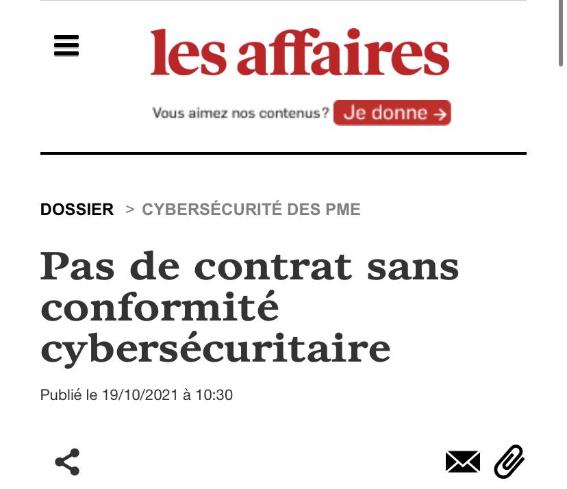 Pas de contrat sans conformité cybersécuritaire